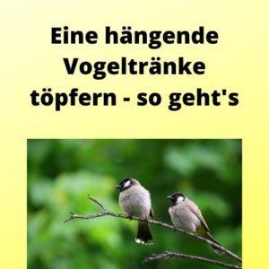 Eine hängende Vogeltränke töpfern - so geht's