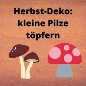 Herbst-Deko kleine Pilze töpfern